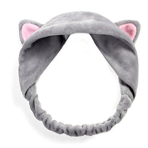 Surker 1 pcs Women Cute Cat Ears Headband Hair Head Band Party Headdress (Headband Makeup)