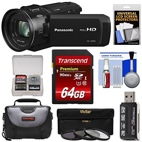 Panasonic HC-V800 Wi-Fi Full HD Video Camera Camcorder with