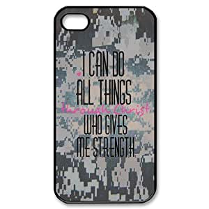 THYde Proud U.S. Army Wife, Military Wife pattern for black plastic iphone 6 4.7 case ending