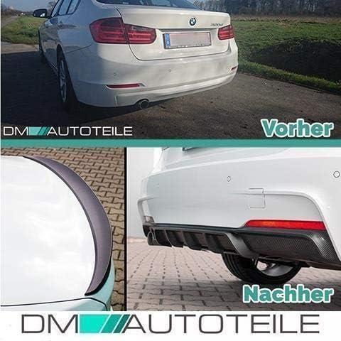 DM Autoteile Sport-Performance Frontspoiler Diffusor Schwarz passt f/ür F30 F31 M-Paket