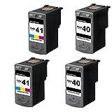 Best unknown PREMIUM Ink Cartridges - 4-Pack Canon PG-40 CL-41 (2B+2C) Compatible Inkjet Cartridges Review