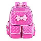 Abshoo Child School Bookbag Cute Kids School Backpacks for Girls (Rose Red)