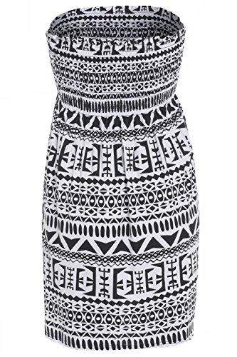 Cornichons Au Chocolat Nouvelles Femmes Aztec Crâne Tye Colorant Imprimé Paisley Bustier Tube Déviateur En Tête Noire Aztec