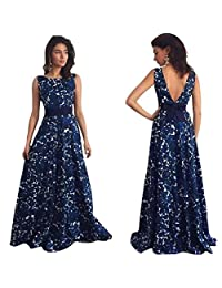 Aribelly Women's Floral Long Formal Prom Dress,Party Ball Gown Evening Wedding Dress