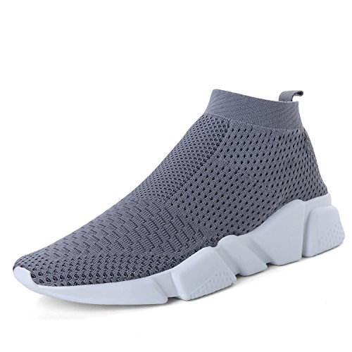 (WXQ Men's Running Shoes Free Transform Flyknit Fashion Sneakers Gray 47)