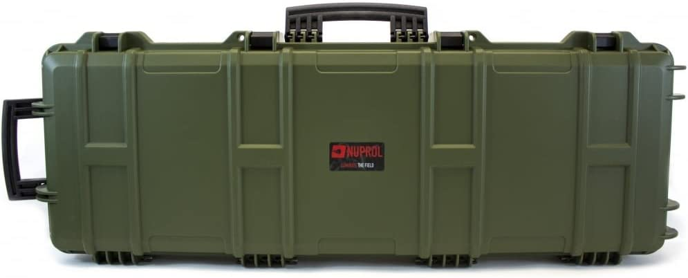 Nuprol - Maletín rígido para fusil con ruedas, resistente a golpes y al agua, 105x33x15cm