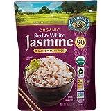 Lundberg Family Farms Organic Red & White Jasmine Rice, Thai Hom Mali, 8 Ounce (Pack of 6)