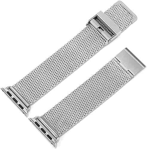 Milanese apple watch strap metal strip iwatch watch chain female stainless steel clasp 42mm