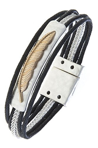 [KARMAS CANVAS FEATHER CHARM CORD BRACELET (Gold Centered)] (Nutcracker Costumes For Sale)