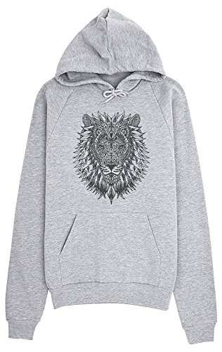 Amazing Detailed Lion Tattoo Style Drawing Women's Hoodie Pullover