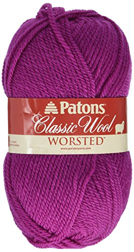 Patons  Classic Wool Yarn - (4) Medium Gauge 100% Wool - 3.5oz -  Orchid -   For Crochet, Knitting & Crafting ()