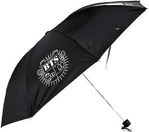 paraguas de bts negro con logo