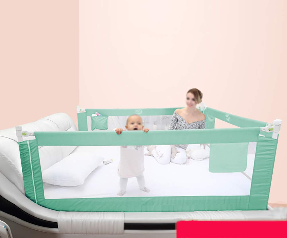 Size : 180cm/×63cm Vertical Lifting Bed Rail Double Safety Lock Baby Bed Guardrail Full Size Toddlers Bedrail
