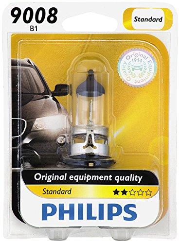 Philips 9008 / H13 Standard Halogen Headlight Bulb (Pack of 1) (1 Leaf Bulb)