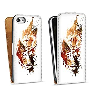 Diseño para Apple iPhone 5C DesignTasche Downflip white - Chetah