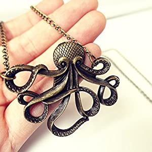 Eternity J. Vintage Retro Necklace Animal Pendant Chain for Women