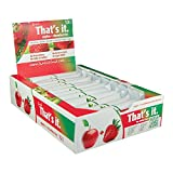That's It Apples and Strawberries 100% Fruit Bars, Perfect Vegan Gluten Free Healthy Snack On-The-Go for Children, Adults, and Endurance Athletes, Best High Fiber, Sugar-Free, No Preservatives Energy