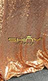 ShinyBeauty Wedding Party Sequin Aisle Runner, Sequin Carpet, 50FTx4FT-Rose Gold
