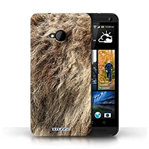 KOBALT? Protective Hard Back Phone Case / Cover for HTC One/1 M7 | Wolf Design | Animal Fur Effect/Pattern Collection by lolosakes