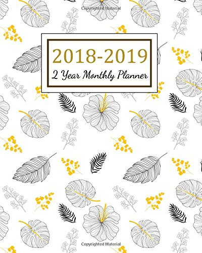 2018 - 2019 2 Year Monthly Planner: 2018 - 2019 Two Year Planner | Daily Weekly And Monthly Calendar | Agenda Schedule Organizer Logbook and Journal ... Cover (24 Month Calendar Planner) (Volume 8)