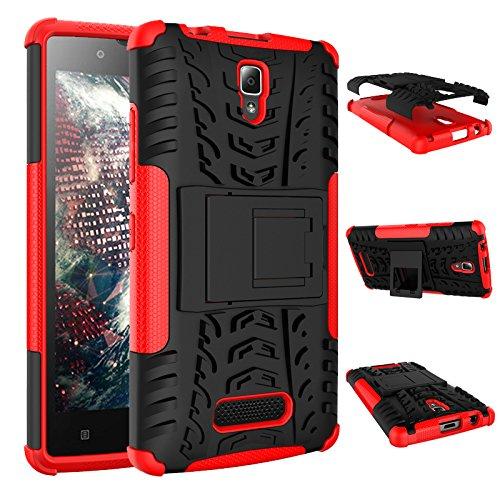 Lenovo A2010 Case, Lenovo A2010 Cover, BasicStock Durable Protective Case Protector Protector Case [ Slim Fit ] Protective Skin Cover for Lenovo A2010 (Red)