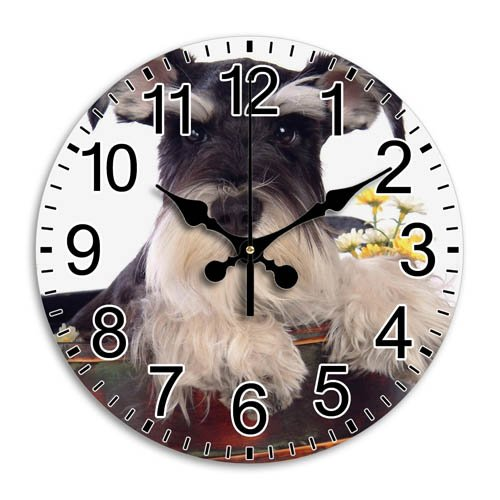 Giants Clock Definition High (Monica M Joheson Time Individual Frameless Round Wall Clock Functional Quiet Gift Arabic Numbers Diameter 11.8 Inch)