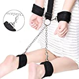 JINL Fetish Neck Collar To Hand Ankle Cuffs Restraints BDSM Nylon Bondage Kit With Ball Slave Gag Adult Game Sex Products For Couples-Black