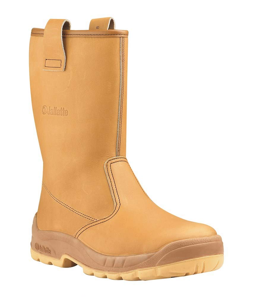 V12 Tomahawk Mens Tan Leather Steel Toe Waterproof Safety Riggers Work Boots