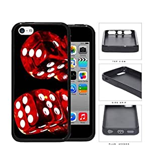 Red Rolling Dice with Black Background Games Hard pc pc Phone Case Cover iPhone 5c