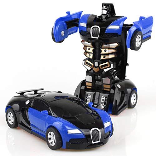 HOTLISTA Transform Car Robot, Crash Deformation Robot Car Model Toy for Children