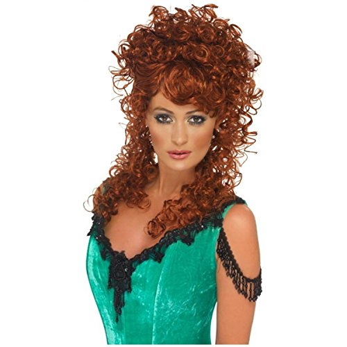 Saloon Girl Women's Wild West Country Wig Costume Accessory (Wild West Saloon Girl Costume)