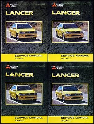 2003 mitsubishi lancer repair shop manual original 4 vol set rh amazon com 2003 mitsubishi lancer oz rally repair manual pdf 2010 Mitsubishi Lancer Owner's Manual