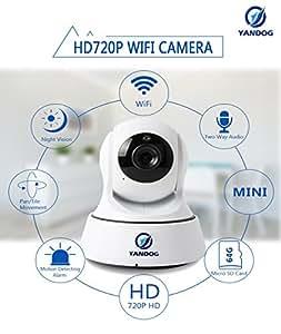 YANDOG HD 720P Wireless Wifi IP Camera Network Infrared Night Vision Camera Baby Monitor WIFI IP Camera Surveillance Camera