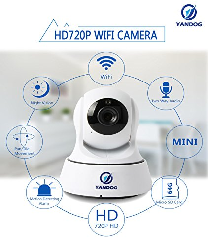 YANDOG HD 720P Wireless Wifi IP Camera Network Infrared Night Vision Camera Baby Monitor WIFI IP Camera Surveillance Camera