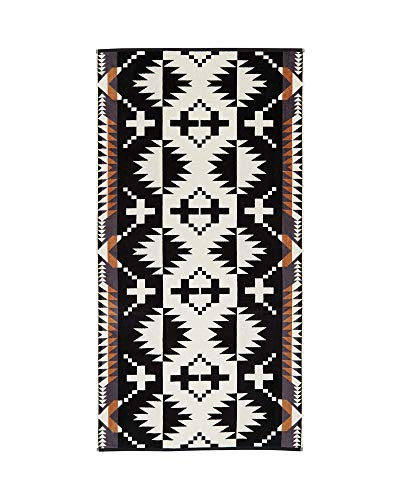 (Pendleton Spider Rock Cotton Bath Towel, Black/White, One Size)