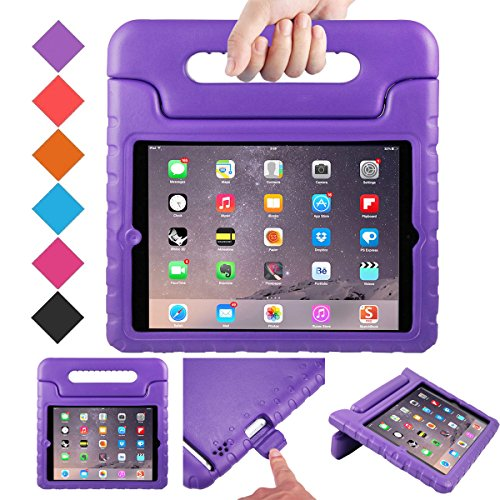 (BMOUO Case for iPad 2 3 4 - Kids Case Shockproof Convertible Handle Light Weight EVA Super Protective Stand Cover for iPad 4, iPad 3 & iPad 2 2nd 3rd 4th Generation, Purple)