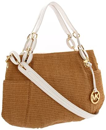 MICHAEL Michael Kors Lilly Satchel,Natural/White,One Size