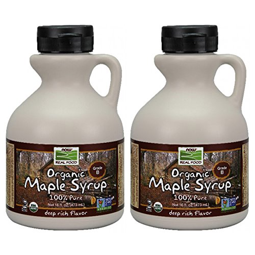 NOW Foods Organic Maple Syrup B Grade,  16 Ounce Bottle (Pack of 2)