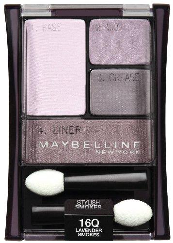 ((Pack 2) Maybelline New York Expert Wear Eyeshadow Quads, 16q Lavender Smokes Stylish Smokes, 0.17)