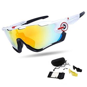 West 3 lentes intercambiables bicicleta MTB bicicleta gafas polarizadas ultravioleta a prueba de bicicleta las gafas de sol deportivas para ...