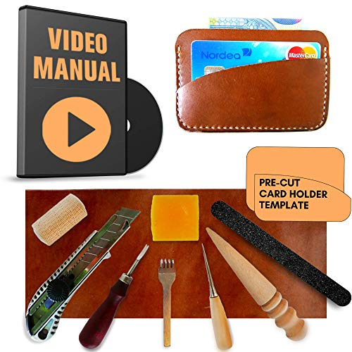 - Leather Tools for DIY Leather Project | The Leather Sewing Kit Includes the Required Leather Working Tools, Veg Tan Leather and Video Instructions | Best gift for men, dad gifts