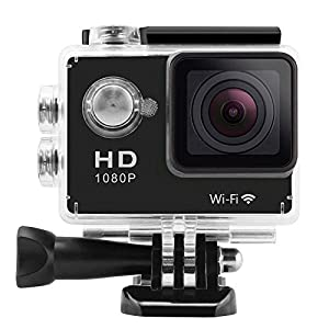 Legazone® 1080P WIFI Sports Camera with 2.0Inch LCD Display 12MP Wide Angle+ Full HD Micro Hdmi with 900mAh Rechargeable Battery Underwater 30m Home Burglar Head Sports Outdoor Sports Marine Sports Diving Car Recorder DVR Cam Action Camera Helmet Cam