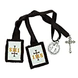 VILLAGE GIFT IMPORTERS Genuine Homemade Scapulars | 100% Real Wool | 6 Styles | Made in The USA | Durable and Beautiful Quality | Christian Jewelry