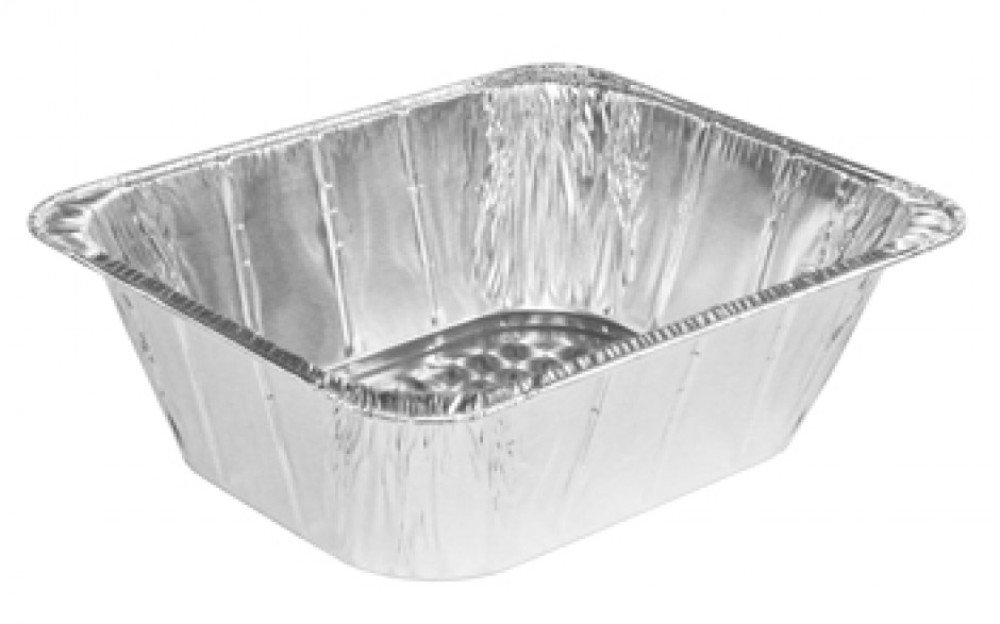Handi-Foil Steam Table Aluminum Pan, Half-Size, 4 3/16'' Extra Deep, 100 Pack