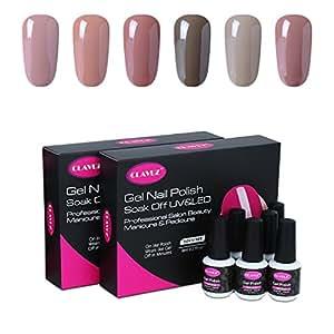 Amazon clavuz gel polish soak off uv led gel nail polish set clavuz gel polish soak off uv led gel nail polish set 6pcs new starter kits manicure solutioingenieria Choice Image