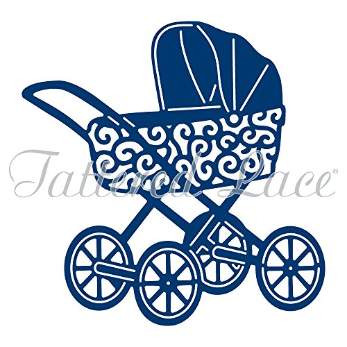 Tattered Lace Vintage Pram Cutting Die D934 Stroller Baby - Lace Carriage