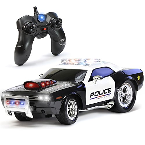 KidiRace RC Remote Control Police Car for Kids, Rechargeable, Durable and Easy to Control (Remote Controller Car)