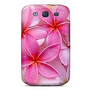 Shockproof Cell-phone Hard Covers For Samsung Galaxy S3 With Support Your Personal Customized Stylish Tropical Plumeria Pattern JohnPrimeauMaurice
