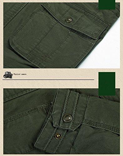 Otoño Pocket Multi OLD ejercito Hombre Algodón Parka Clásico Militar Transitional Ejército Chaqueta Estilo KING® de verde de Cargo Chaqueta de ZvZx41aq