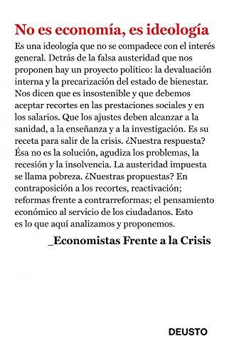 Descargar Libro No Es Economía, Es Ideología Economistas Frente A La Crisis